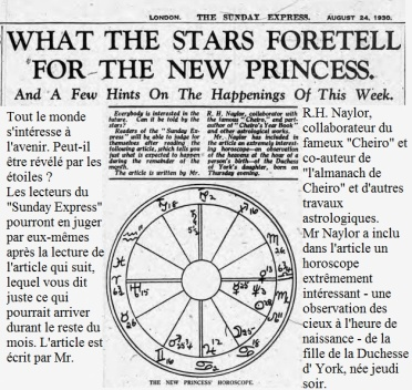 Sunday Express, 24 août 1930