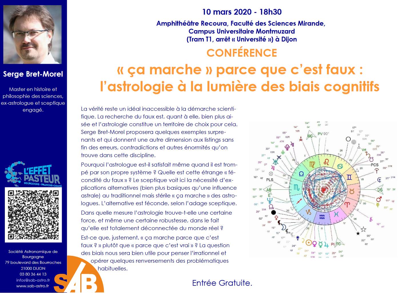 10 Mars 2020 18h30 : conférence à Dijon (Société Astronomique de Bourgogne)